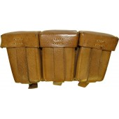 DAK or Luftwaffe brown leather ammo pouch for Kar 98