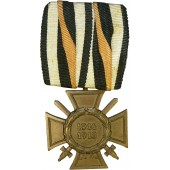 Ehrenkreuz für Frontkämpfer 1914-1918/ Commemorative cross for WW1 for combatant with a bar