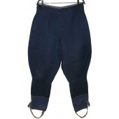 M 35 Soviet NCO's or militia blue trousers without piping for  peace time.