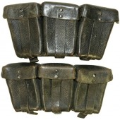 RB NR 0/0552/0024 marked K 98 ammo pouches - pair.