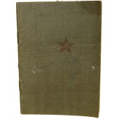 Red Army pay book 1943 year issued
