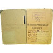 Red Army paybook for a  motorcycle mechanic in rank of sergeant served in 67 motorized rifle battalion