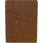 Red Army soldier's paybook. Issued to the Red Army man served in NKVD battalion of railway guard