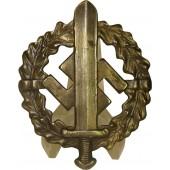 SA Sportabzeichen -Bronze, marked EIGENTUM d.S.A. SPORTABZ.-HAUPTSTELLE Fechler Bernbach/SA