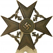 Spanish cross in bronze without swords by Steinhauer & Luck, marked L/16