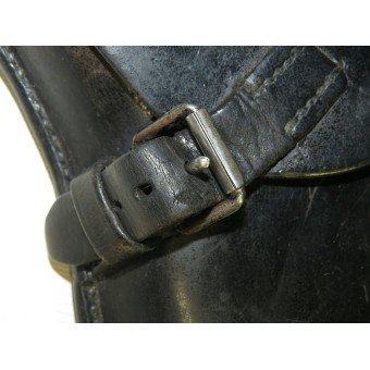 Wehrmacht Heer or Waffen SS 1939 year dated black leather holster for  P 08 Parabellum pistol. Espenlaub militaria