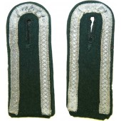 Transitional pair of Wehrmacht shoulder straps without piping