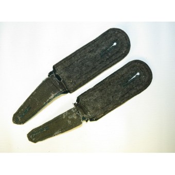 Transitional pair of Wehrmacht shoulder straps without piping. Espenlaub militaria