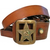 Soviet Red Army leather belt M 35 with star