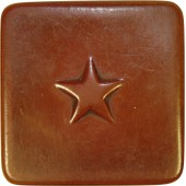 Red Army early teeth powder celluloid box with star on the lid.