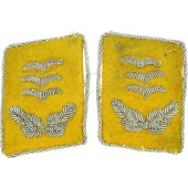 WW2 German flying personal collartabs for rank Hauptmann