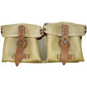 Beige oilcloth ROS 44 marked mag pouch for G-43 Walther rifle