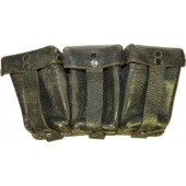 Black pebbled leather ammo pouch for Mauser 0/0365/0012