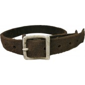 1941 year marked German helmet leather chinstrap with aluminum buckle and studs