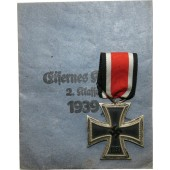 Iron cross II class, 1939. With the paper bag by Carl Forster und Graf