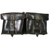 Black leather G/K 43 Karabiner, semi-automatic rifle ammo pouch