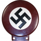 Early Nazi sympathizing badge for motorcycle or bicycle