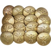 24 mm NSDAP political leader overcoat gilded buttons set
