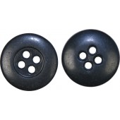 German Kunstharz small black textolite 14-mm button for tunics, wraps and M 42/43 hats