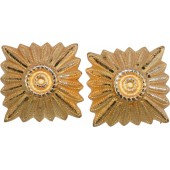 Golden rank pip for Wehrmacht, Luftwaffe or SS officer's shoulder boards