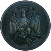 Green resin button for Beamte Forst und Justiz, before 1938 year
