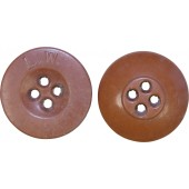 Sand brown color Luftwaffe 18 mm button for uniforms and equipment