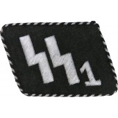 "SS-VT "" Deutschland"" collar tab for enlisted men for black tunic"
