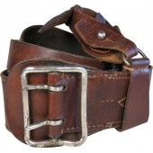 M33 Leather belt with a cross-strap, very good soft and pliable condition
