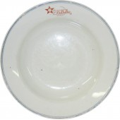 RKKA Mess Hall Dinner bowl. 1935-1941. Decorated with the Red Army Star