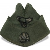 Waffen SS M 40 Feldmütze- side hat in salty condition