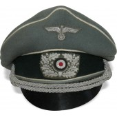 "Wehrmacht Heer Infantry visor hat,  re-styled  to ""crusher""."