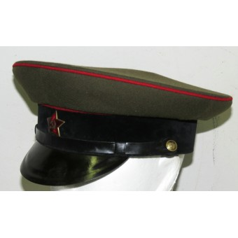 M35 post-war German made armored visor hat with logo  Record. Espenlaub militaria