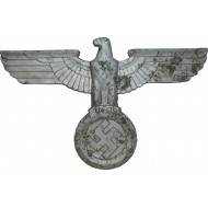 3rd Reich train eagle for the narrow-gauge railways  locomotives or mail buses. 40 cm.