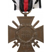 Hindenburg commemorative cross with swords. W. D. Rare maker.