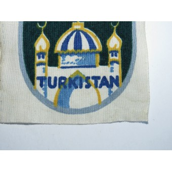 3rd Reich Foreign Volunteer Arm Shield for the Turkistan Legion. Espenlaub militaria
