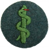 Third Reich Police trade patch: Military medical service