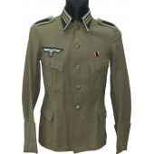 Feldbluse for hot summer in Russian Front for a Heer Unteroffizier in Signals