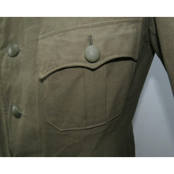 Feldbluse for hot summer in Russian Front for a Heer Unteroffizier in Signals. Espenlaub militaria