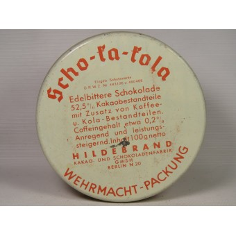 Scho-ka-kola tin for German soldiers. 1941 Wehrmacht Packung. Espenlaub militaria