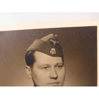 Photo of the Latvian Freiwillige from 15 or 19 divisions of SS. Postcard size.. Espenlaub militaria