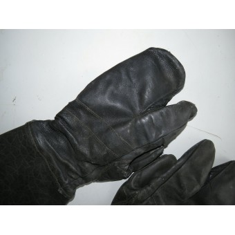 Leather gloves, winter,  Red Army armored troops. Espenlaub militaria