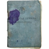 Red Navy female service book. Issued for private Zyuzina Nina Petrovna.
