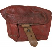 Universal ammo-pouch M1941 for RKKA rifles. Red-brown leather