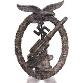 Luftwaffe anti-aircraft gunner, Flak badge, zinc