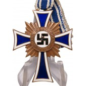 Mother's cross from the period of the 3rd Reich. Bronze