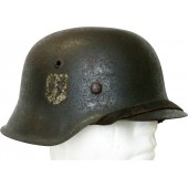 German M42 Waffen-SS steel helmet. Volunteer.