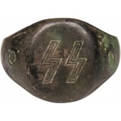 Ring with SS runes. Archeology