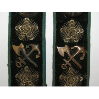 Collar tabs of the Privy Councilor of the Ministry of Railways (1885-1903) or Minister. Espenlaub militaria