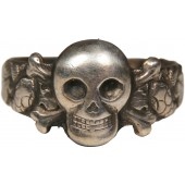 Traditional skull ring 835 sterling silver. Belonged to Friedrich Kober SS T Stuba Mauthausen