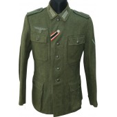 Wehrmacht Jäger m1943 Feldbluse/tunic. Combat wounded